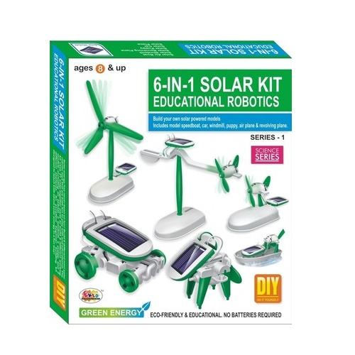 Do it yourself online stationery india office stationeryschool 6 in 1 solar kit educational robotics solutioingenieria Image collections