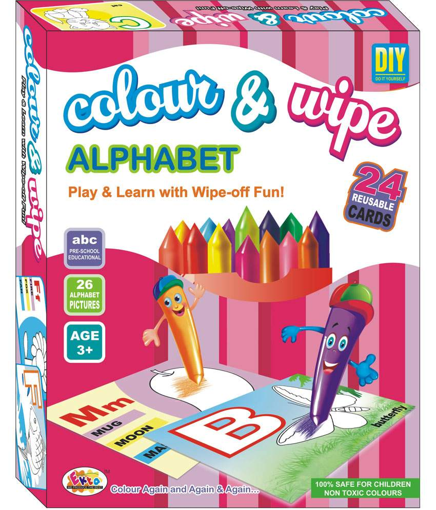 Ekta Color n Wipe - Alphabets