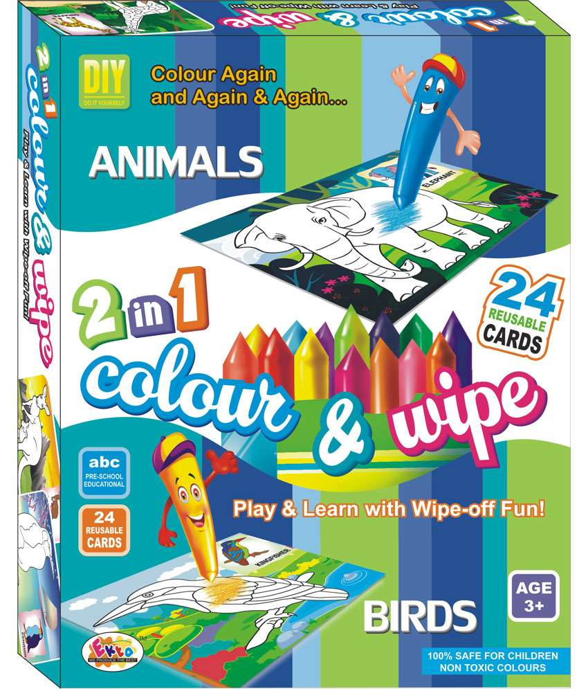 Ekta Color n Wipe - Animals