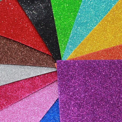 Glitter foam sheet plain 5 color 10 sheets sb14201865 for Red craft foam sheets