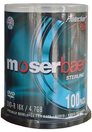 Moser Baer DVD-R Spindle (Pack of 100)