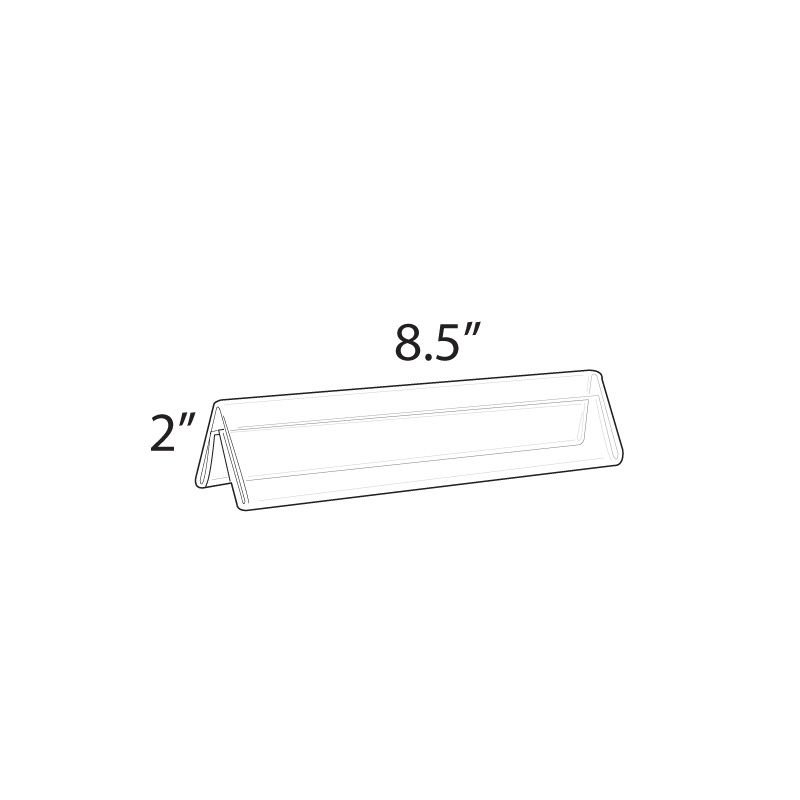 Acrylic Sign Holder Name Plate 8.5 x 2 in (Set of 10)