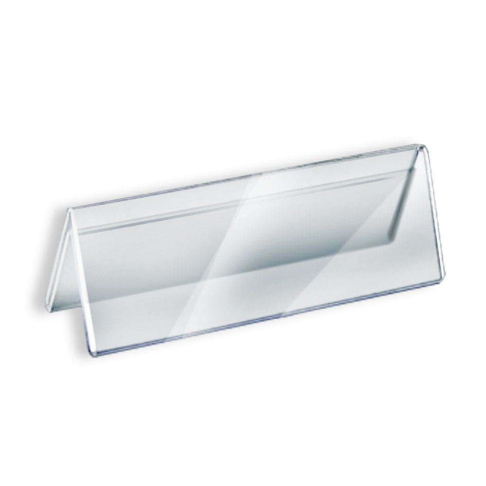 Acrylic Sign Holder Name Plate 8 5 X 2 In Set Of 10
