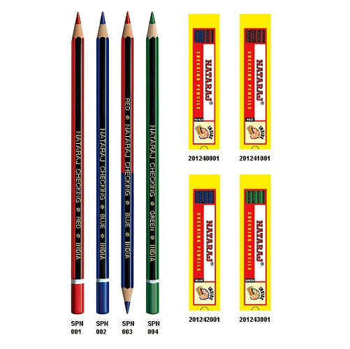 Nataraj Checking pencil Red-Blue