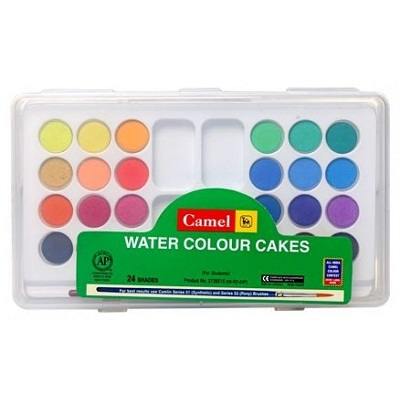 Camlin Water Color Cakes 24 Shades